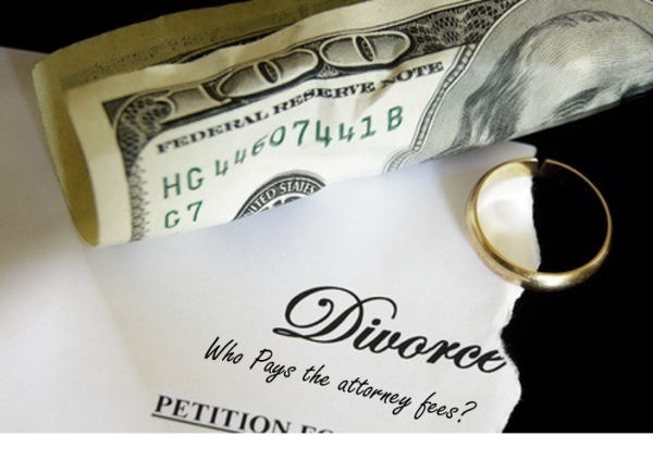How do I pay for attorney's fees in a divorce?